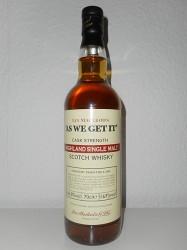 Ian Macleod`s AS WE GET IT - Highland Single Malt - 1st Fill & Refill Sherry Cask