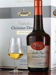 Calvados Christian Drouin - Hors d`Age - Geschenkset