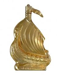 Cognac Larsen Viking Ship - Golden Sculpture