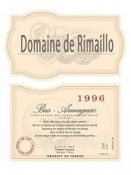 Armagnac Domaine de Rimaillo - Jahrgang 1996